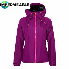 chaqueta negra impermeable mujer