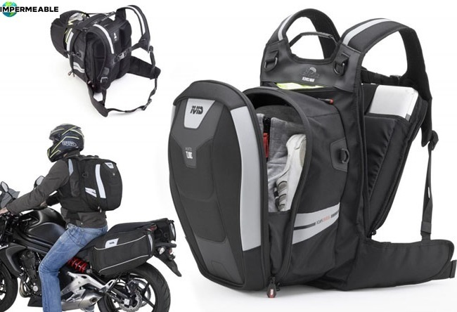 mochila portatil impermeable moto