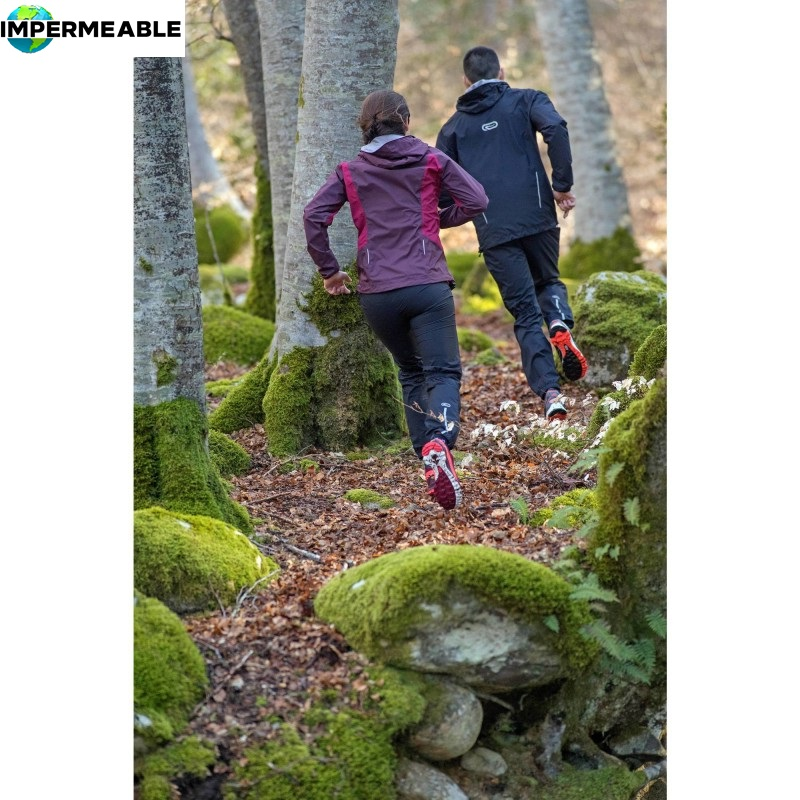 chaqueta impermeable trail running hombre