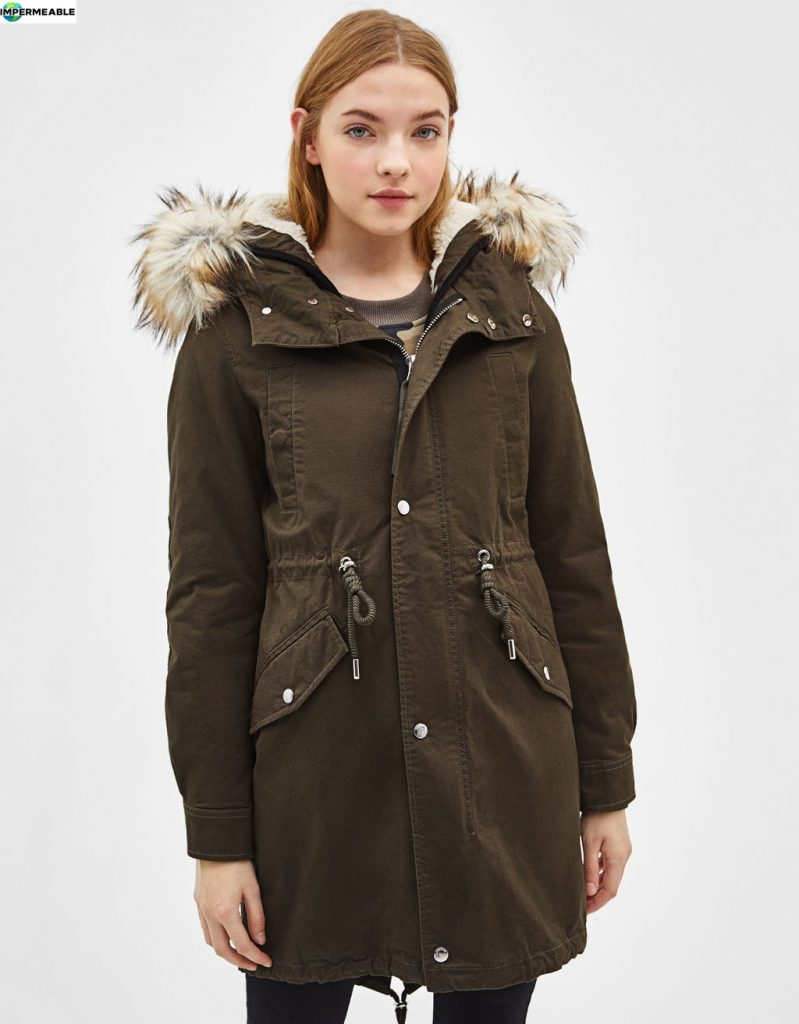 parka acolchada impermeable mujer