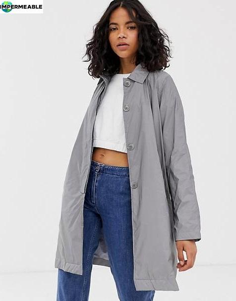 gabardina impermeable con capucha mujer