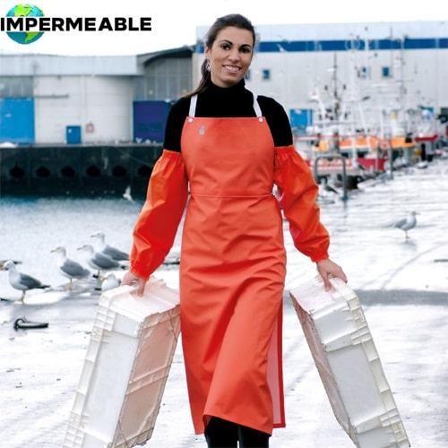 delantal desechable impermeable